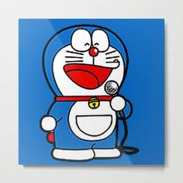 Doraemon Karaoke Metal Print