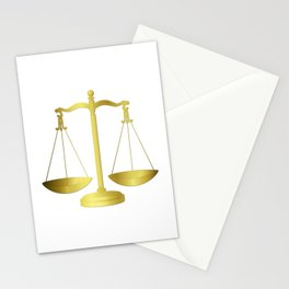 Gold Scales of Justice Lawyers Hotline Stationery Cards