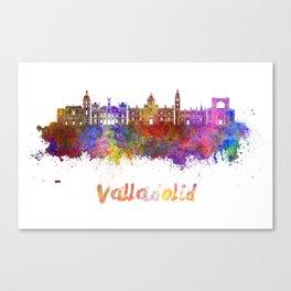 Valladolid skyline in watercolor Canvas Print