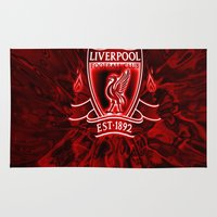 liverpool Area & Throw Rugs featuring LIVERPOOL LOVER by Acus