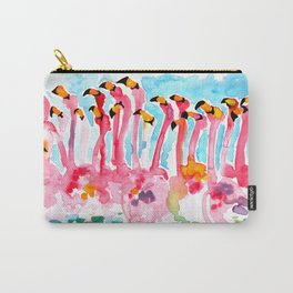 Welcome to Miami - Flamingos Illustration Carry-All Pouch