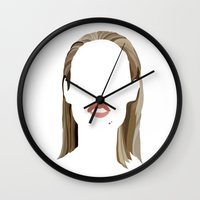 clueless Wall Clocks featuring Iggy by Bethany Mallick