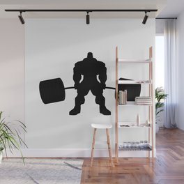 Heavy weight lifting beast Wall Mural