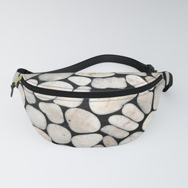 Light Stone Pattern Against Black Fanny Pack