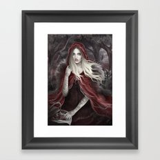 Red Riding Hood (Chaperon Rouge) Framed Art Print