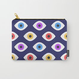 Lucky Eyes Vintage Pattern Carry-All Pouch