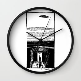 UFO Hovers High Above Underground Mining Tunnels - BNW Wall Clock