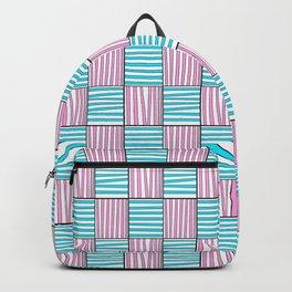 symetric tartan and gingham 22 -vichy, gingham,strip,square,geometric, sober,tartan Backpack