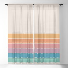 Boca Spring Stripes Sheer Curtain
