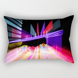 Moving Out zoom burst photograph Fremont Theater San Luis Rectangular Pillow