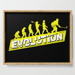 Ice Hockey Player Evolution Sport Trainer Coach Goalie Funny Team Goalkeeper Defender Gift Idea Serving Tray