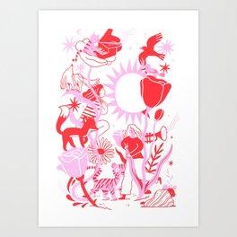 Jazzy Doodle Art Print