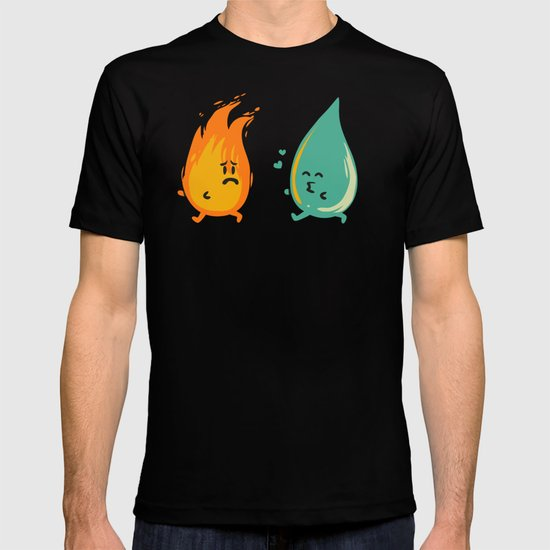 Impossible Love (fire and water kiss) T-shirt
