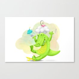 Slippery gator Canvas Print