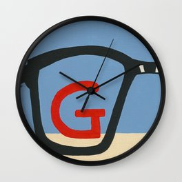 G is for Glasses Wall Clock