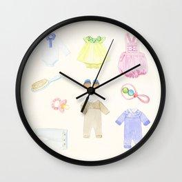 Baby Clothes Wall Clock