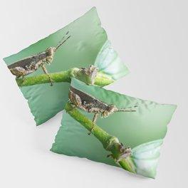 MACRO PHOTOGRAPHY OF GRASS HOPPER Pillow Sham
