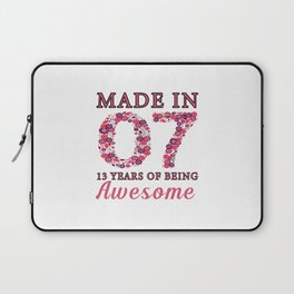 Made In 2007 13 Years Of Being T shirt Laptop Sleeve