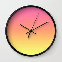 Bright Spring Gradient Wall Clock