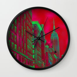 New York by Lika Ramati Wall Clock