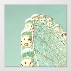 Soft Aqua Ferris Wheel  Canvas Print