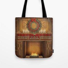 Christmas Fireplace Tote Bag