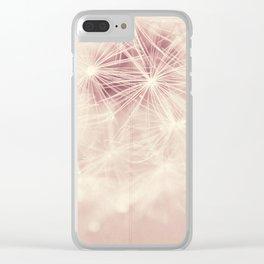 dandelion postcard Clear iPhone Case