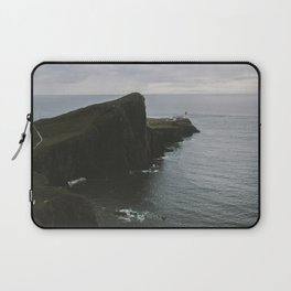 Neist Point Lighthouse at the Atlantic Ocean - Landscape Photography Laptop Sleeve