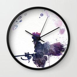 Kiki & Jiji Flying Over The Moon Kiki's Delivery Service Wall Clock