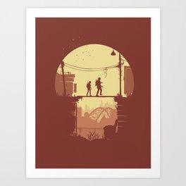 Joel & Ellie on a Journey Art Print