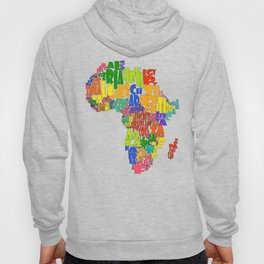 African Continent Cloud Map Hoody