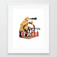 captain Framed Art Prints featuring Captain by Design4u Studio