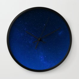 Blue Night Sky (Color) Wall Clock