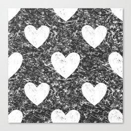 Cozy Hearts Canvas Print