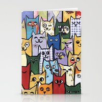 a lot of cats Stationery Cards featuring Cats a Lot by grrrenadine
