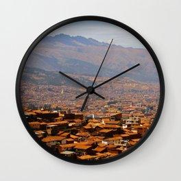 Above Cusco Wall Clock