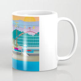 Santa Cruz, California - Skyline Illustration by Loose Petals Coffee Mug