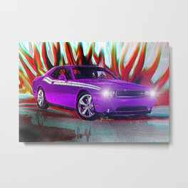 Plum Crazy Challenger Metal Print