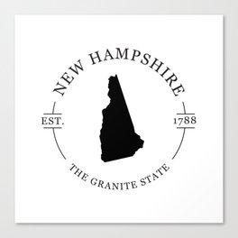 New Hampshire - The Granite State Canvas Print