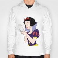 snow white Hoodies featuring Snow White by mark ashkenazi