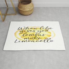 When Life Give You a Lemons Make Limoncello, Kitchen Decor, Wall Art, Hme Decor Rug