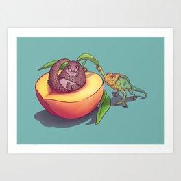 Peach-a-boo! Art Print