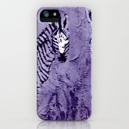 ZEBRAS in E. Africa                                          by Kay Lipton iPhone Case