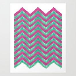 Hot Pink & Mint Art Print