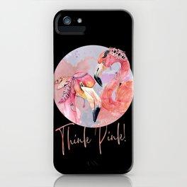Pink Flamingos – Boho-Style iPhone Case