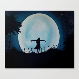 By The Light Of Moon Canvas Print