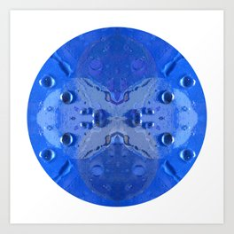 Blue Moon Drop Mandala Art Print
