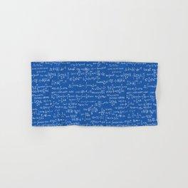 Math Equations // Royal Blue Hand & Bath Towel