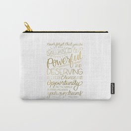 Pursue Your Dreams - Gold Carry-All Pouch