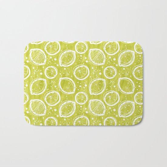 Atomic Lemonade_Green and White Bath Mat